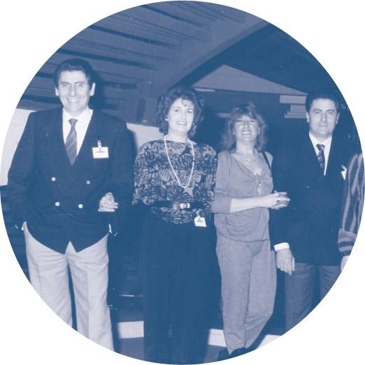 Valter Oriani e Gastone Oriani con le mogli a una Convention Algida, anni '80