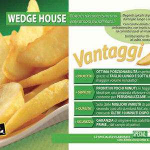 PATATE WEDGE HOUSE (KG 2,5)