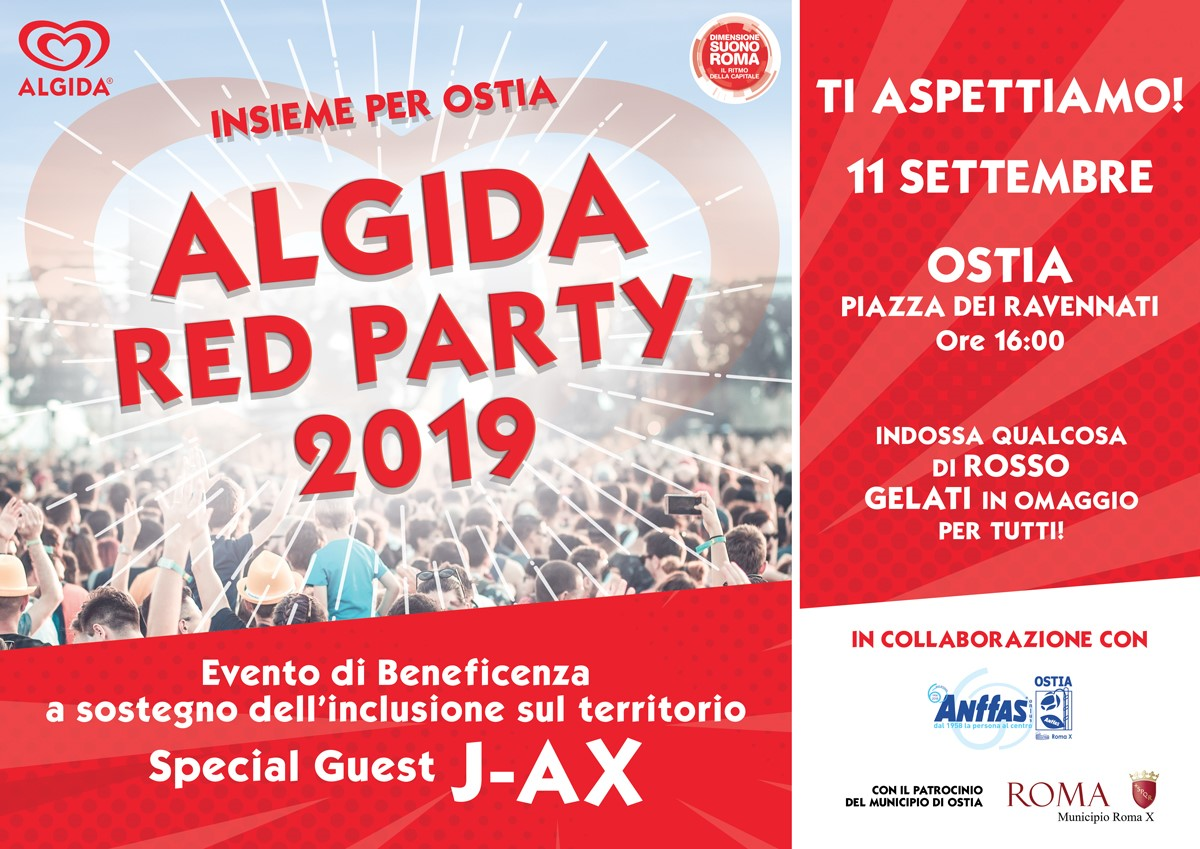 SENIOGEL ALL'ALGIDA RED PARTY 2019 DI OSTIA LIDO