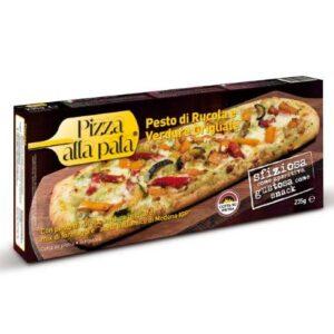 PIZZA PESTO DI RUCOLA E VERDURE GRIGLIATE ALLA PALA (GR. 235)