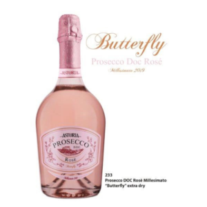 PROSECCO DOC. ROSE' BUTTERFLY (LT 0,75 X 6 PZ)